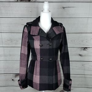 Hydraulic• S jacket fitted double breasted plaid